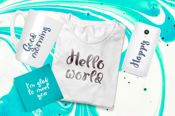 Print on Demand: Bonjour Script & Handwritten Font By Happy Letters - Image 7