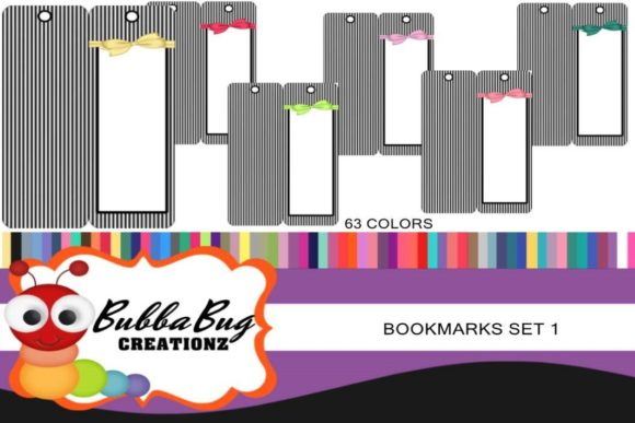 Bookmarks Set 1 Graphic Crafts By BUBBABUG - Image 1
