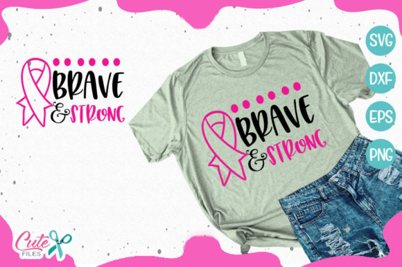 Bundle Breast Cancer Awereness Graphic By Cute files Image 7