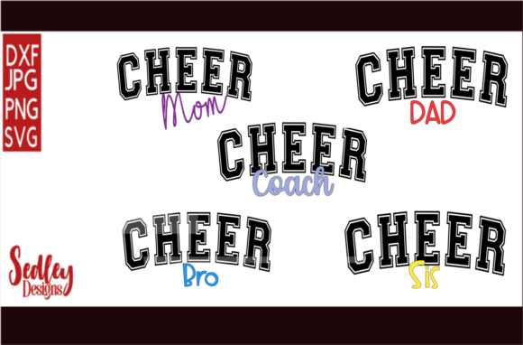 Download Free Cheer Family Bundle Graphic By Sedley Designs Creative Fabrica for Cricut Explore, Silhouette and other cutting machines.