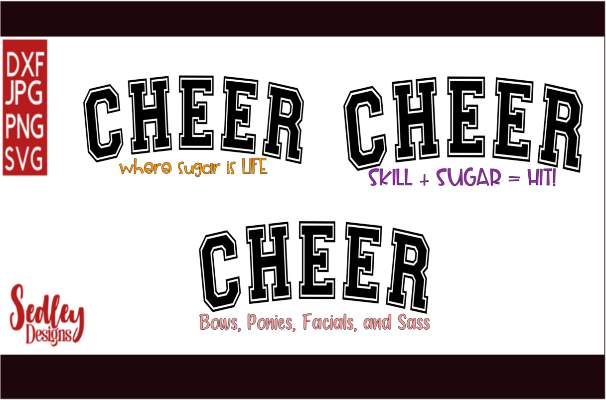 Download Free Cheer Sass Bundle Grafico Por Sedley Designs Creative Fabrica for Cricut Explore, Silhouette and other cutting machines.