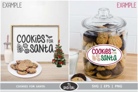 Download Free Cookies For Santa Graphic By Tl Digital Creative Fabrica for Cricut Explore, Silhouette and other cutting machines.