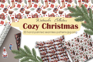 Cozy Christmas Patterns Graphic By Mari_artchef
