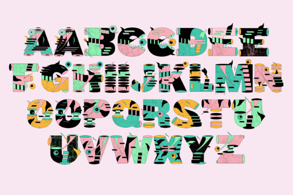 Print on Demand: Crack Color Fonts Font By yai.salinas - Image 2