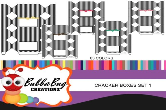 Cracker Box Set 1 Graphic Crafts By BUBBABUG