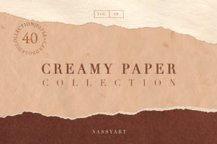 Creamy Paper Collection Graphic By NassyArt