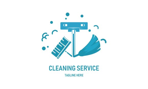 Creative Cleaning Service And Clean Graphic By Deemka Studio