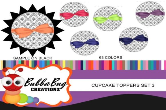 Cupcake Topper Set 3 Graphic Crafts By BUBBABUG - Image 1