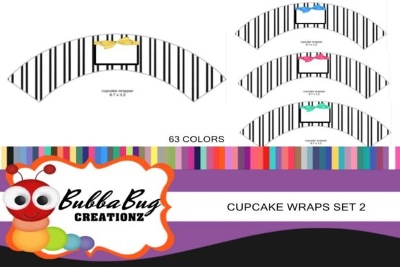 Cupcake Wrap Set 2 Graphic Crafts By BUBBABUG - Image 1
