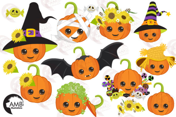 Download Free Cute Pumpkin Clipart Graphic By Ambillustrations Creative Fabrica SVG Cut Files