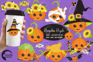 Cute Pumpkin Clipart Graphic By AMBillustrations