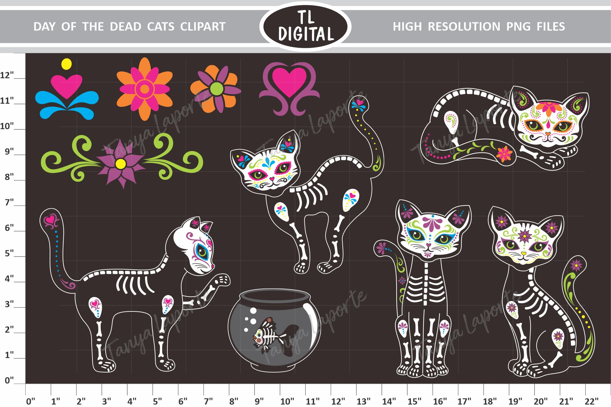 Download Free Day Of The Dead Cats Graphic By Tl Digital Creative Fabrica SVG Cut Files