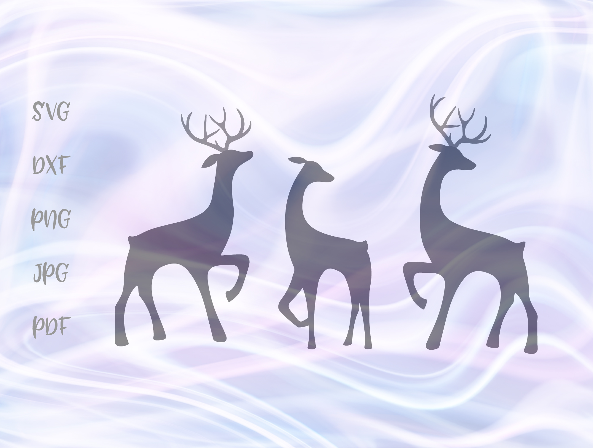 Download Free Deer Family Winter Holidays Christmas Graphic By Digitals By for Cricut Explore, Silhouette and other cutting machines.