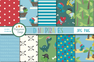 Dino Pirates Paper Graphic By poppymoondesign