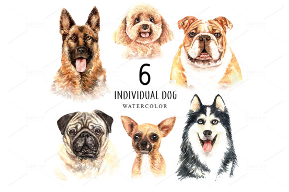 Dog Watercolor Graphic By SapG Art Image 2