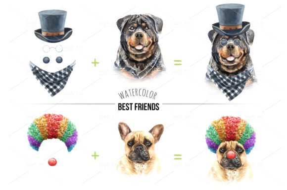 Print on Demand: Dog Watercolor Graphic Illustrations By SapG Art - Image 4