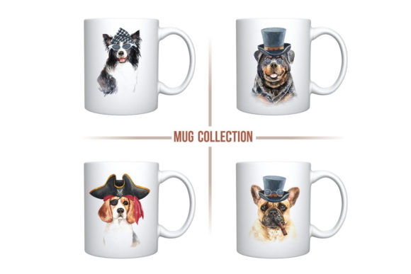 Print on Demand: Dog Watercolor Graphic Illustrations By SapG Art - Image 7