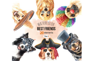 Dog Watercolor Graphic By SapG Art