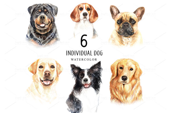 Print on Demand: Dog Watercolor Graphic Illustrations By SapG Art - Image 2
