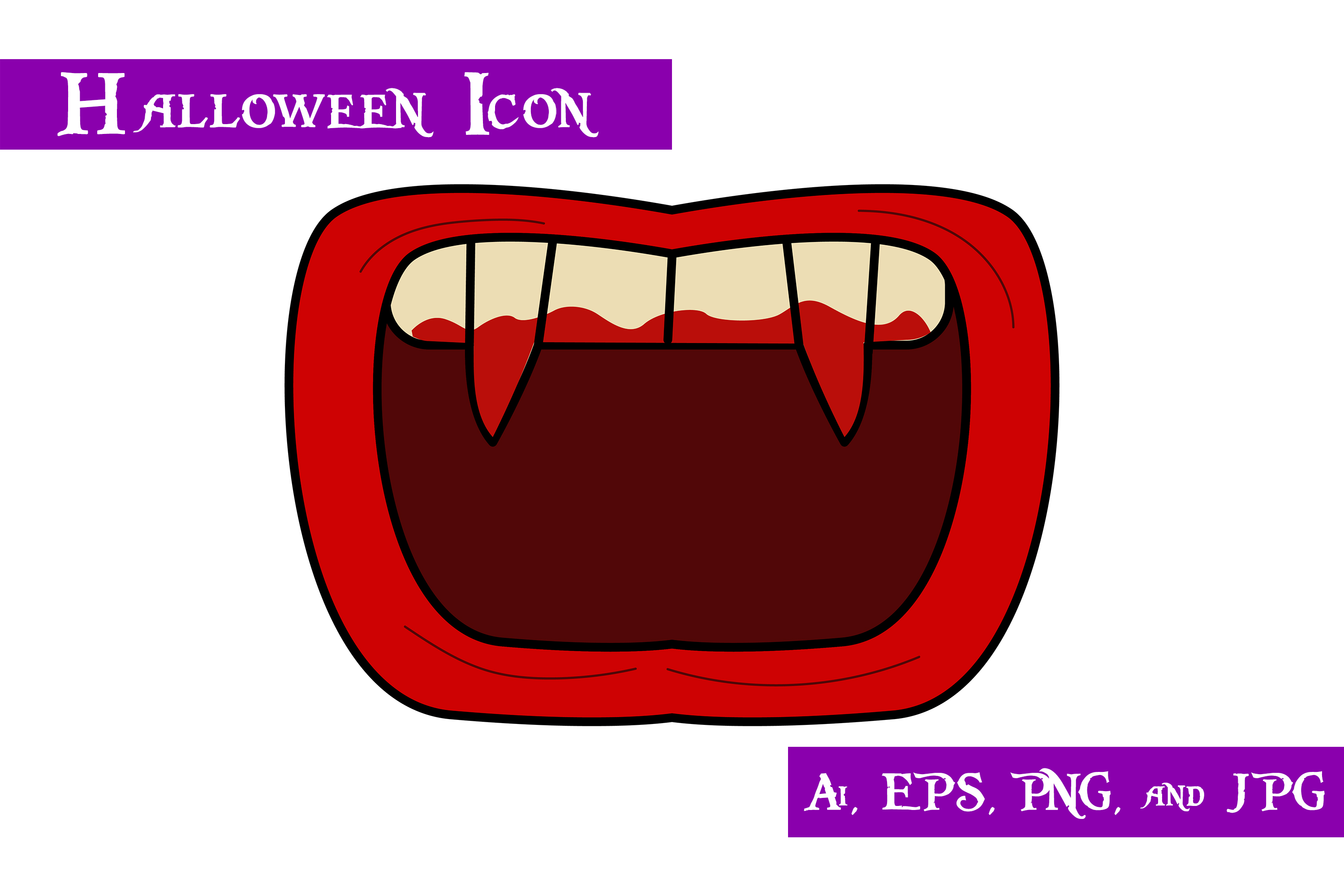 Download Free Dracula Teeth Halloween Icon Graphic By Purplespoonpirates for Cricut Explore, Silhouette and other cutting machines.
