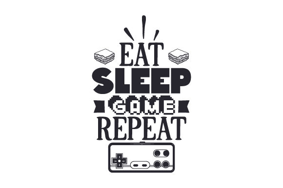 Download Free Eat Sleep Game Repeat Svg Cut File By Creative Fabrica Crafts for Cricut Explore, Silhouette and other cutting machines.