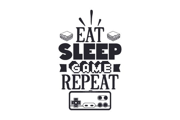 Download Free Eat Sleep Game Repeat Svg Plotterdatei Von Creative Fabrica for Cricut Explore, Silhouette and other cutting machines.