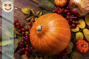 Fall Decor with Pumpkins Graphic By TasiPas
