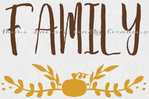 Print on Demand: Fall Farmhouse Family Wall Graphic Crafts By Dana Tucker - Image 2
