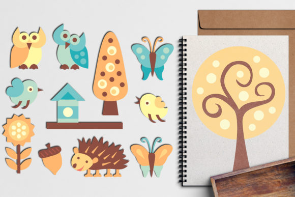 Print on Demand: Forest Friends Graphic Illustrations By Revidevi