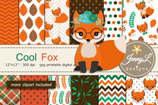 Fox Digital Paper and Clipart Graphic By jennyL_designs