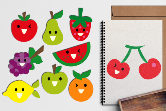 Print on Demand: Fruits Faces Graphic Illustrations By Revidevi