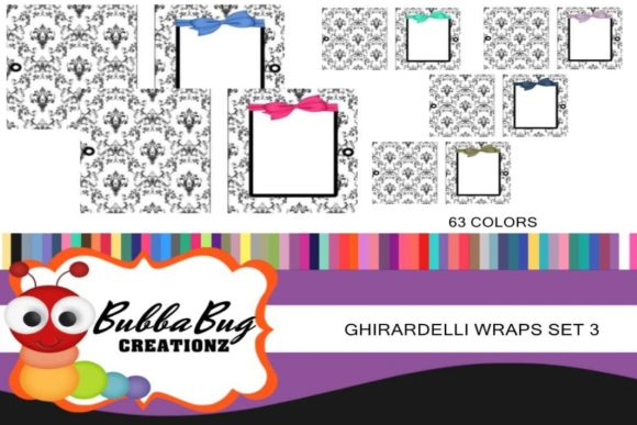 Ghirardelli Wraps Set 3 Graphic Crafts By BUBBABUG - Image 1