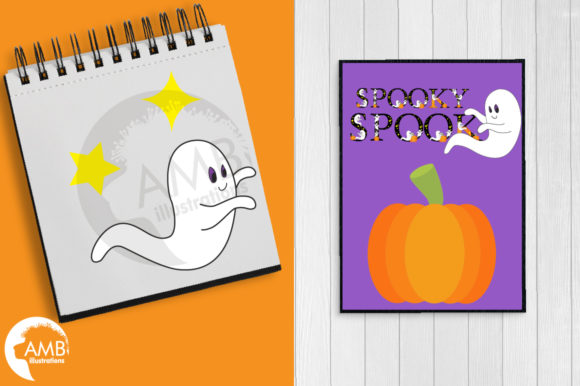 Ghostly Fonts Clipart Pack Graphic Crafts By AMBillustrations - Image 5
