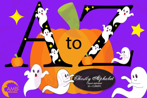 Ghostly Fonts Clipart Pack Graphic Crafts By AMBillustrations - Image 6