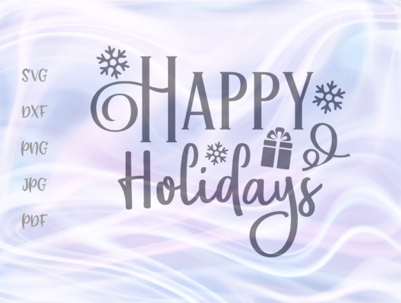 Download Free Happy Holidays Winter Christmas New Year Graphic By Digitals By for Cricut Explore, Silhouette and other cutting machines.
