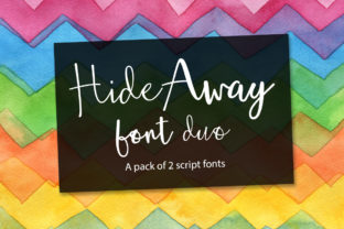 Hide Away Duo Font By joanne.hewitt