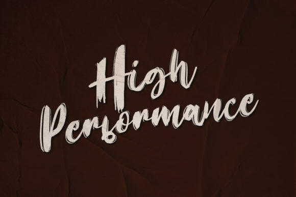High Performance Display Font By sabrcreative