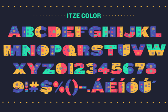 Print on Demand: Itze Color Fonts Font By yai.salinas - Image 2