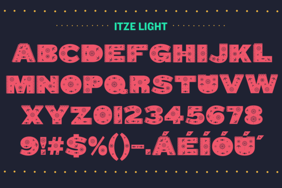 Print on Demand: Itze Color Fonts Font By yai.salinas - Image 3