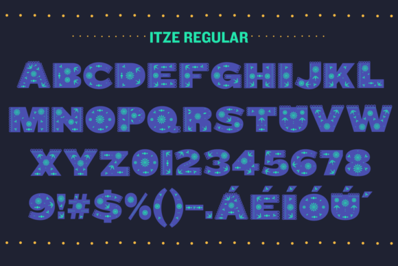 Print on Demand: Itze Color Fonts Font By yai.salinas - Image 4