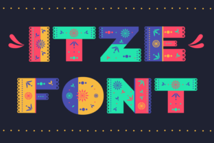 Print on Demand: Itze Color Fonts Font By yai.salinas