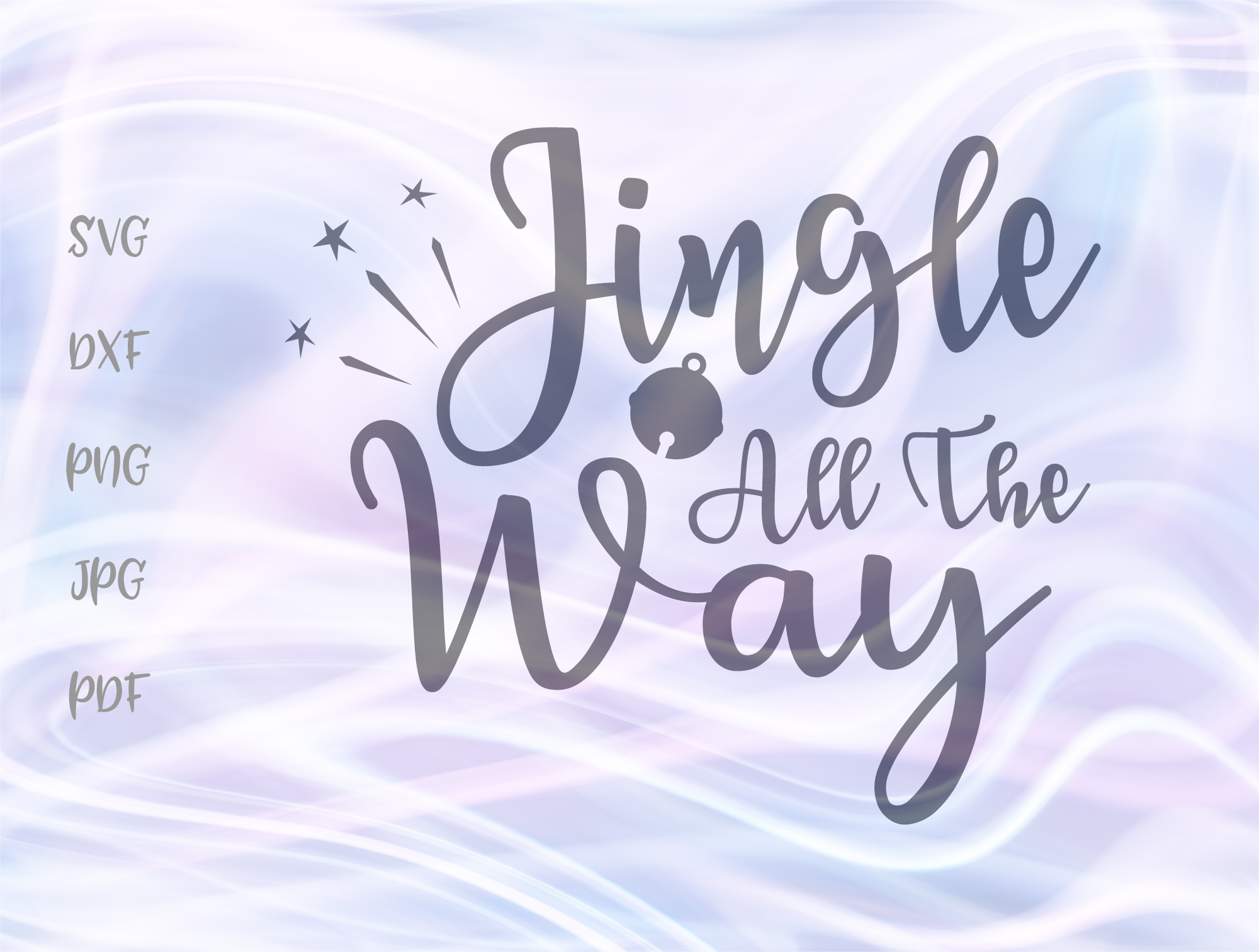 Download Free Jingle All The Way Christmas Bells Song Graphic By Digitals By for Cricut Explore, Silhouette and other cutting machines.