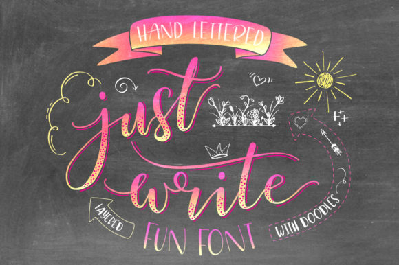 Print on Demand: Just Write Script & Handwritten Font By joanne.hewitt