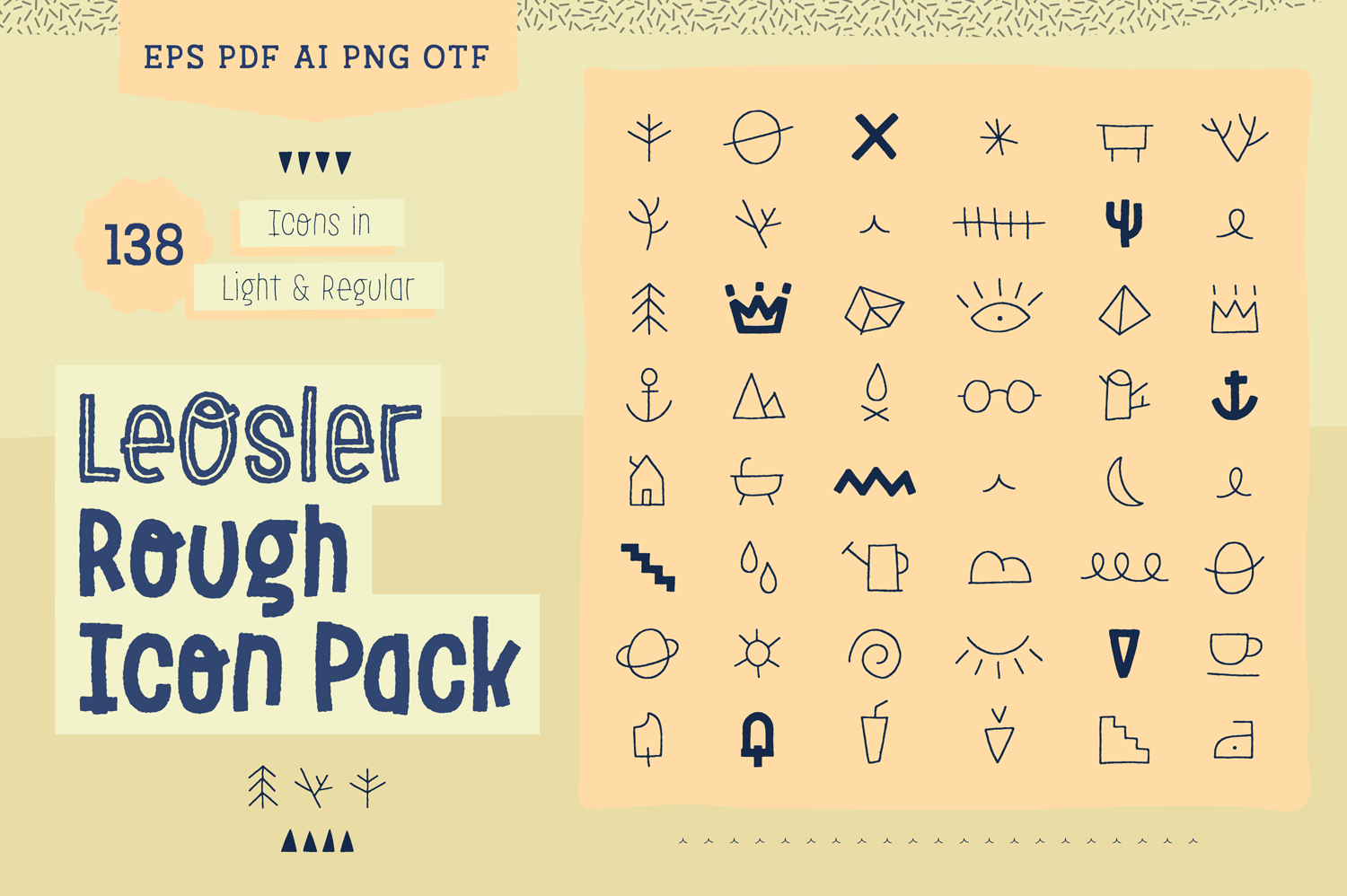 Download Free Leosler Rough Icon Pack Graphic By Antipixel Creative Fabrica for Cricut Explore, Silhouette and other cutting machines.