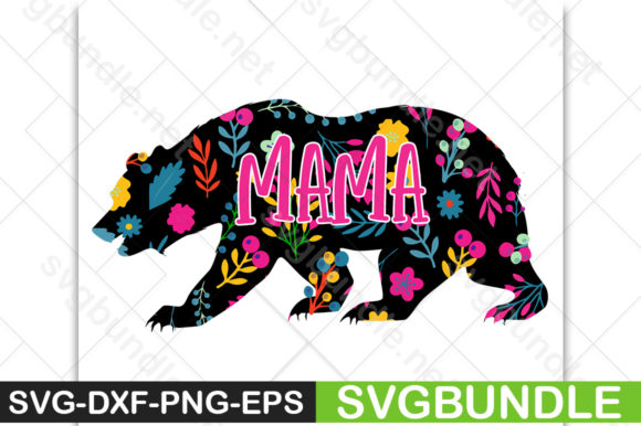 Print on Demand: Mama Bear Graphic Crafts By svgbundle.net