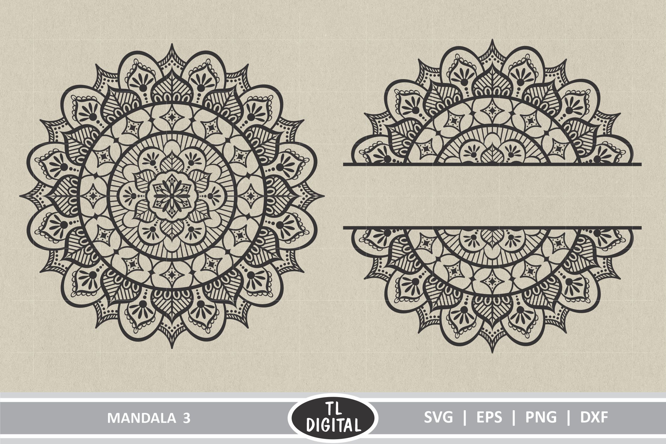 Download Free Mandala Design 3 Graphic By Tl Digital Creative Fabrica SVG Cut Files