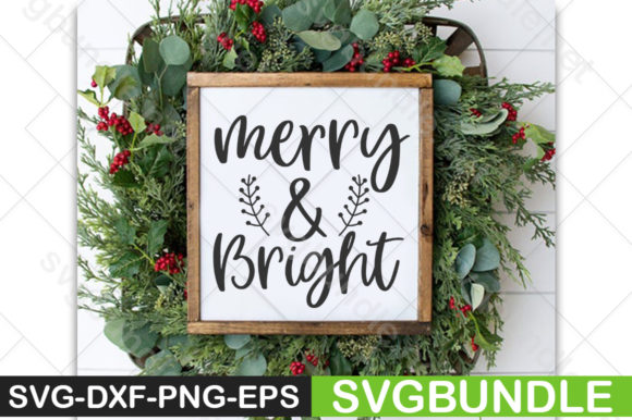 Print on Demand: Merry and Bright Graphic Print Templates By svgbundle.net