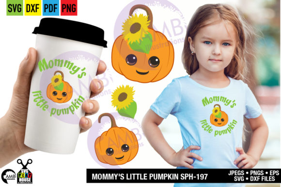 Mommys Little Pumpkin Graphic Crafts By AMBillustrations - Image 1