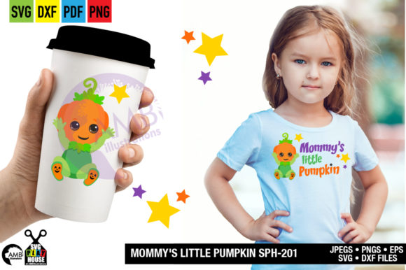 Mommys Little Pumpkin Graphic Crafts By AMBillustrations