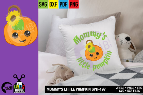 Mommys Little Pumpkin Graphic Crafts By AMBillustrations - Image 3